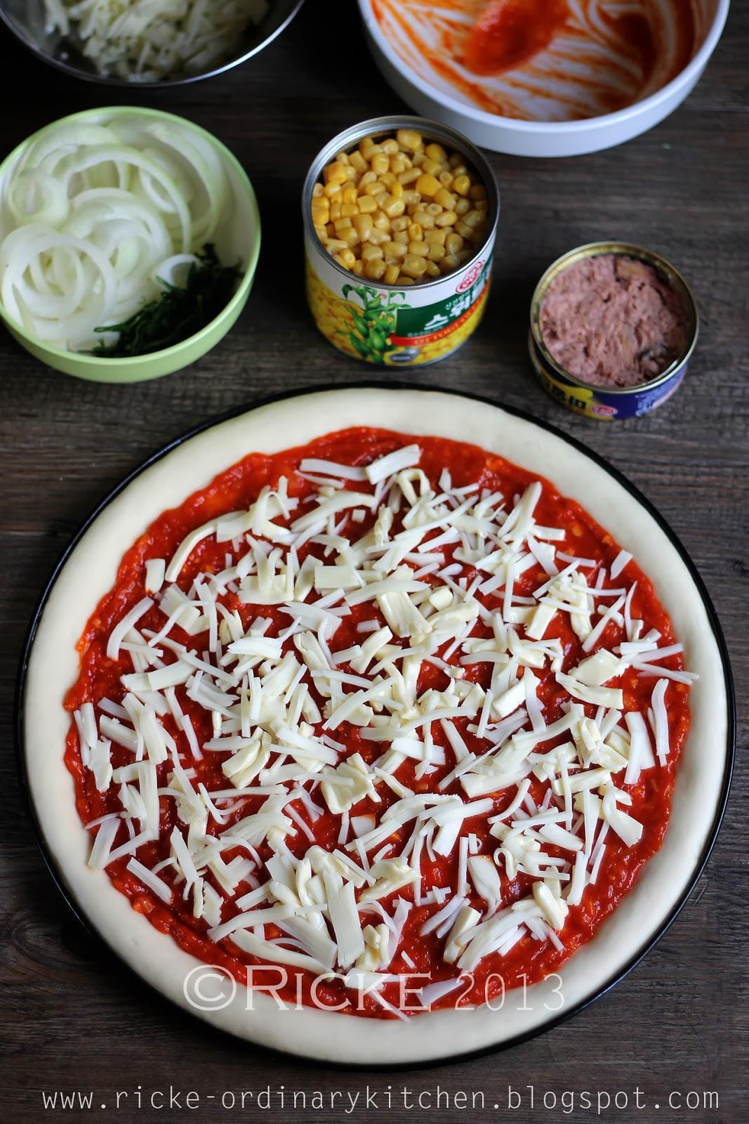 cara membuat pizza mini