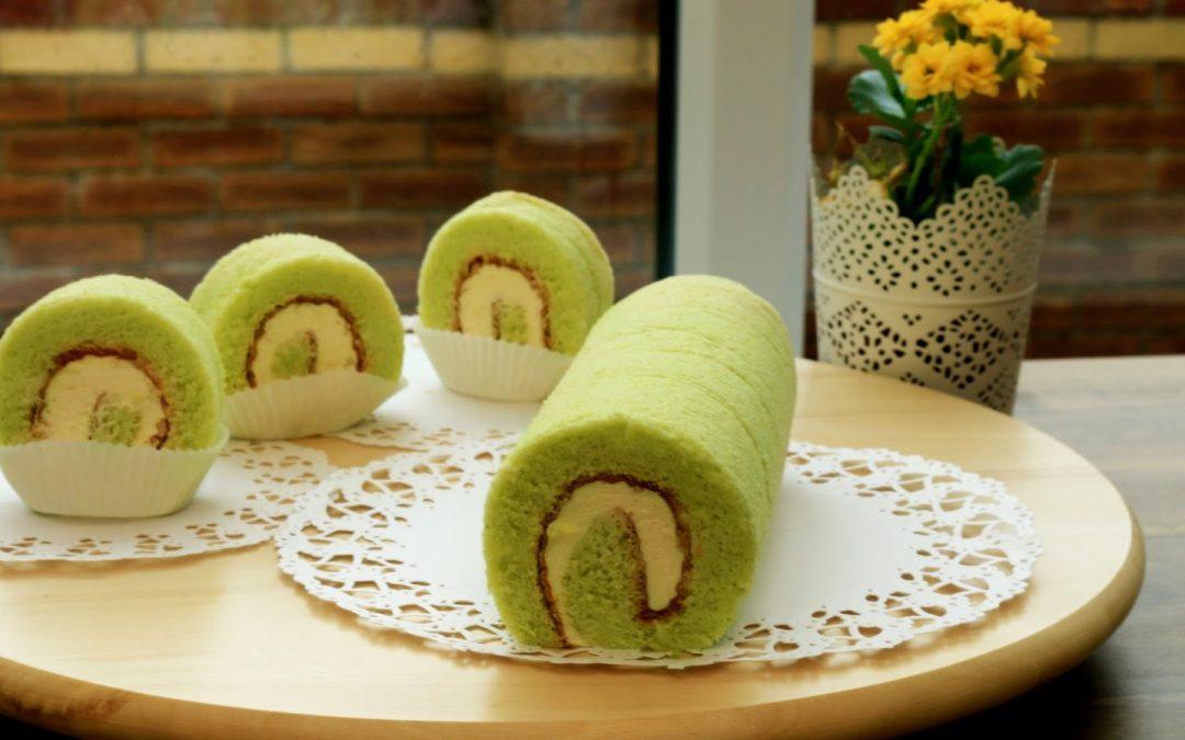 Ini Dia Resep Roll Cake Green tea Kekinian Yang Lagi Hitz